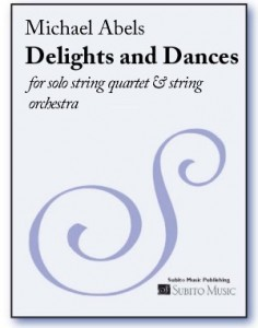 Abels Delights and Dances score