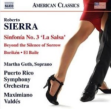 Sierra Sinfonia No.3 Naxos CD graphic red