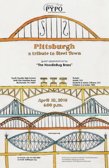 Galbraith Brass 5tet PYPO Pittsburgh Poster